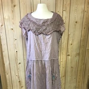 NEW Magnolia Pearl lavender drop waist dress